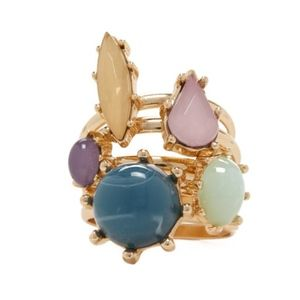 Jewelry - Multicolor Opal Gemstone Stackable Midi Rings 5Pc
